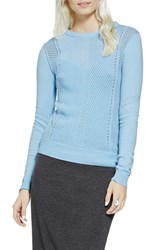 Women's Vince Camuto Mixed Stitch Cotton Sweater Star Blue