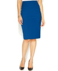 Alfani Classic Pencil Skirt Only At Macy's Cobalt Sea