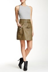 Derek Lam Genuine Leather Skirt Sleeveless Dress Multi