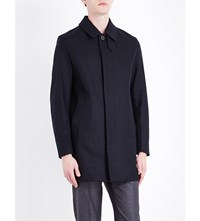 Mackintosh Longline Wool Coat Navy