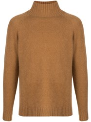 The Elder Statesman Highland Turtleneck Cashmere Sweater Brown