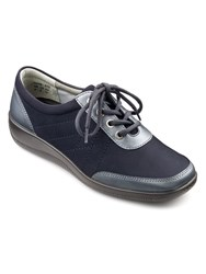 Hotter Paige Ladies Lace Up Lightweight Shoe Navy