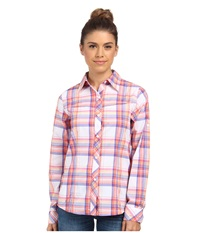 Columbia Insect Blocker Plaid L S Shirt Tropic Pink Plaid Women's Long Sleeve Button Up