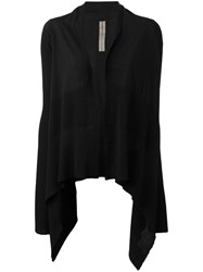 Rick Owens Medium Wrap Cardigan Black