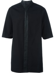 Rick Owens Oversized Shirt Black