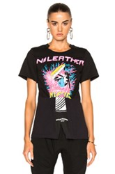 Stella Mccartney Jersey No Leather Surf Print T Shirt In Abstract Black Pink Abstract Black Pink