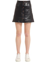 Tommy Hilfiger Patent Leather Mini Skirt Gigi Hadid