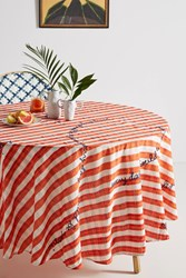 Anthropologie Abeline Tablecloth Red Motif