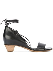 Roberto Del Carlo Lace Up Sandals Black