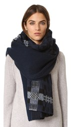 Standard Form Oversized Anders Plaid Scarf Blue