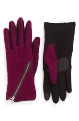 Echo Women's 'Touch Zip Boucle' Tech Gloves