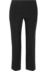 Helmut Lang Cropped Wool Blend Straight Leg Pants Black