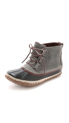 Sorel Out 'N About Leather Booties Quarry Madder Brown