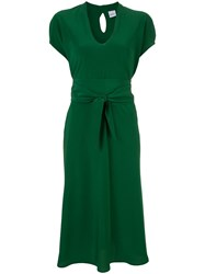 Aspesi Belted Midi Dress Green