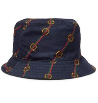 Gucci Reversible Printed Shell Bucket Hat Green