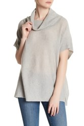 Cupcakes And Cashmere Manchester Short Sleeve Sweater Gray