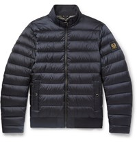 Belstaff Circuit Slim Fit Quilted Shell Down Jacket Blue