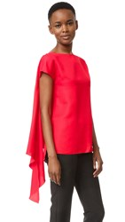 Nina Ricci Cady Front Wrap Top Bright Red