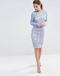 Endless Rose Lace Midi Skirt Co Ord Powder Blue