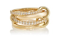 Spinelli Kilcollin Women's White Diamond Embellished Chain Ring Gold