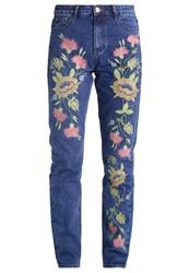 Glamorous Relaxed Fit Jeans Mid Blue