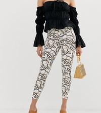 River Island Molly Skinny Jeans In Chain Print Multi