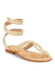 Cocobelle Snake Wrap Sandals Taupe