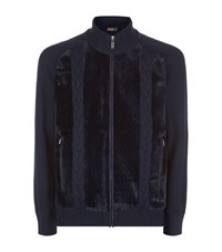 Zilli Kangaroo Fur Knit Male Blue