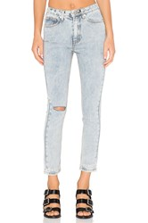 Unif Bab High Rise Destroyed Jean Light Blue