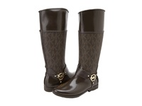 Michael Michael Kors Fulton Harness Tall Rainboot Brown Women's Rain Boots
