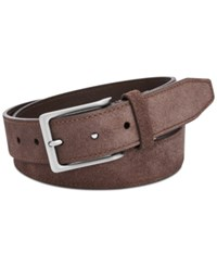 Fossil Men's Jim Gray Leather Belt Brown