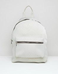 Asos Lifestyle Scuba Croc Embossed Backpack Grey