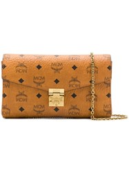Mcm Millie Flap Crossbody Bag Brown