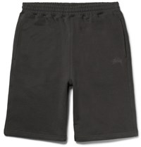 Stussy Fleece Back Cotton Jersey Shorts Black