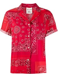 Semicouture Paisley Print Shirt Red