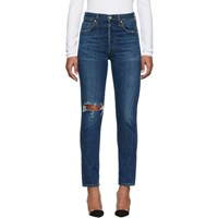 Citizens Of Humanity Blue Liya High Rise Classic Jeans