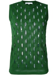 08Sircus Perforated Detail Sleeveless Top Green