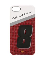 Chaos Electric 8 Leather Iphone 7 8 Cover Red