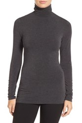 Halogen Long Sleeve Turtleneck Petite Gray