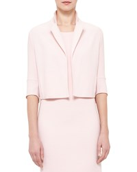 Akris Emma 3 4 Sleeve Short Wool Cocoon Jacket Flamingo Women's