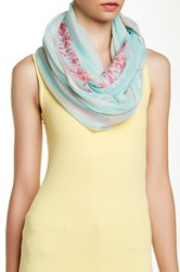 Cara Accessories Striped Baroque Infinity Scarf Green