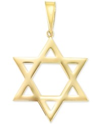 Macy's Large Star Of David Pendant In 14K Gold