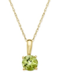 Macy's Peridot Pendant Necklace In 14K Gold 5 8 Ct. T.W.