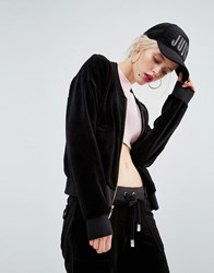 Juicy Couture Bling Velour Jacket Pitch Black