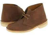 Clarks Desert Boot Beeswax Leather Women's Lace Up Boots Brown
