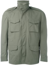 Massimo Piombo Mp Zip Up Field Jacket Green