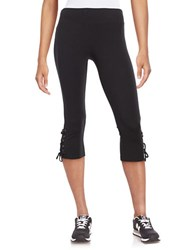Marc New York Lace Up Cuff Yoga Pants Black