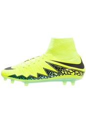 Nike Performance Hypervenom Phatal Ii Df Fg Football Boots Volt Black Hyper Turquoise Clear Jade Neon Yellow