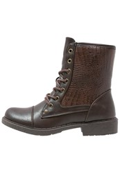 Anna Field Laceup Boots Dark Brown