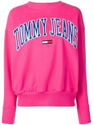 Tommy Jeans Logo Patch Sweatshirt Pink